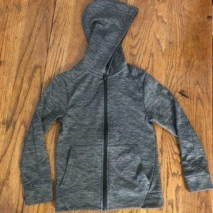 Champion Fleece Jacket Heather Gray Hooded S